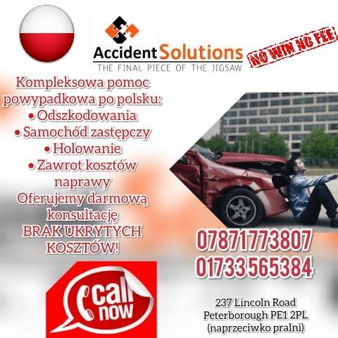 accident solutions peterborough odszkodowania ulotka