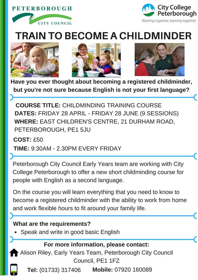 kurs childminding peterborough