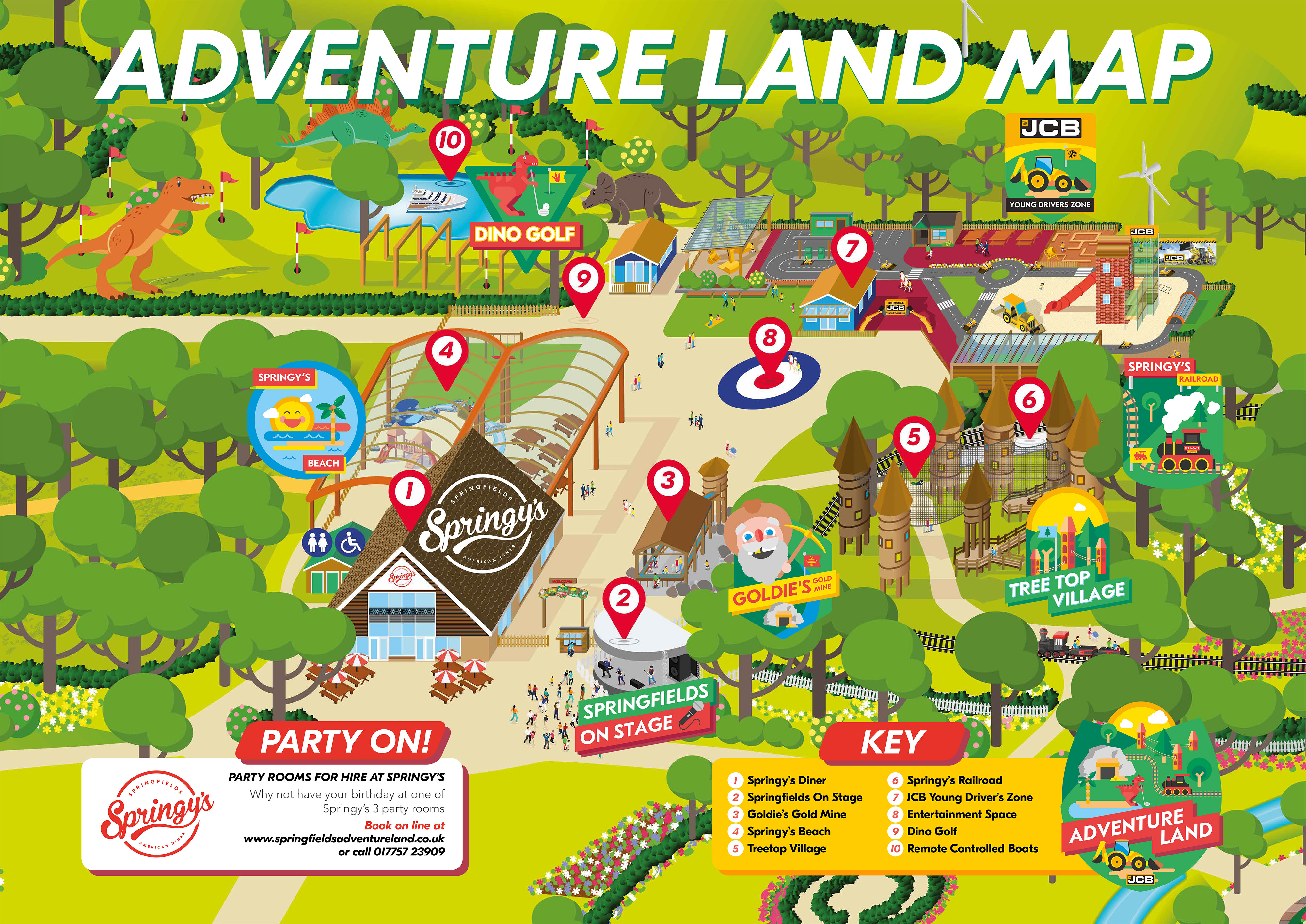 springfields adventure land mapa